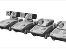 Vehicle Lance Pack 1 in White Strong & Flexible