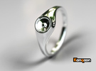 Liza - Ring - US 6¾ - 17.12mm in Polished Silver