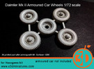 Daimler Mk II Tires 1/72 scale SWFUD-72-006 in Frosted Ultra Detail