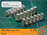 WW2 Allied Cans 1/72 scale Set A