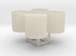 N scale 500-gallon water tank (set of 4)