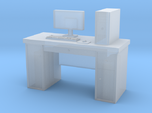 HO scale PC with desk