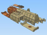 1-148 BR 57 Armored Loco + 2 Tenders For BP-42