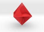 0047 Octahedron Line Design (4.6 cm) #001