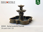 Barbed quatrefoil fountain (N 1:160)