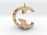 Two way letter pendant - CG GC