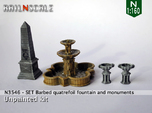 SET Quatrefoil fountain with monument (N 1:160)