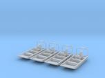 Flat Bottom Boat 01.  N Scale (1:160) or 10mm