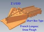 Z 1-220 French Short Langeac Railway Snow Plough