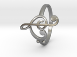 Size 9 Clefs Ring