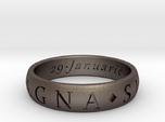 Size 13.5 Sir Francis Drake, Sic Parvis Magna Ring