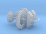 1/18 Modern 11.6 Inch Diam 6 Piston Disk Brake Set
