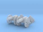Cannon (Light) Qty - (2) N 160:1 Scale