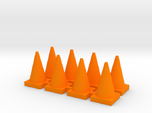Road Cone 8 Pack 1-87 HO Scale