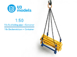 1:50 10x Scafolding pipe + 1x Container box PACK /