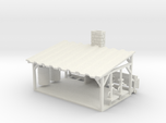 Picnic Shelter + Scene Parts - HO 87:1 Scale