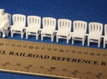 HO SCALE Simple Chairs (x10)