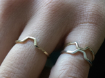"""""""A-Line"""" Honey Ring, US size 11, d=20,5mm (All siz"""