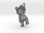 Teddy Bear Pendant - ring, edge - 48mm
