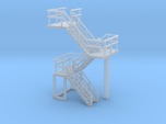N Scale Concrete Plant Stairs 35.1mm