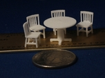 S Scale Round Tables x5 and Chairs x20