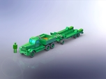 M19 Tank Transporter w. Hard Top 1/285 6mm