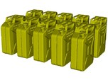 1/24 scale WWII Wehrmacht 20 lt fuel canister x 10