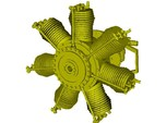 1/32 scale Gnome 7 Omega rotary engine x 1