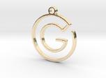 G Monogram Pendant