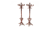 Pair of 1:48 Metal Hatstands