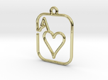 The Ace of Heart continuous line pendant