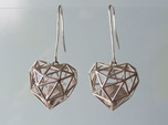 Metal Wireframe Heart Earring