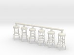 Soda Fountain Bar Stool 02. 1:32 Scale