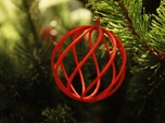spiral christmas ball small