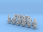 """1:87 scale 24"""" Flanged Pipe Fittings and Gate Valv"""