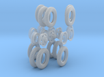 1-35 GMC Tire+Rims 750x20 Set4