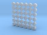 1/700 Scale Oerlikon Tubs (Stepped Bottom) x36