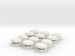 Set of 12 Oval Bunker / Pill Box