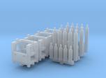 Gas cylinders and racks (N 1:160)