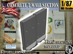 1-87 Concrete T-Wall Section Set