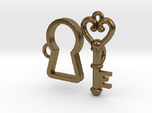 Lock and Key Toggle Clasp Charms