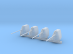 1/300 Scale 5 In 54 Cal Mk 45 Naval Gun Set Of 4
