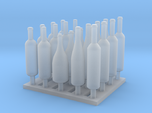 120mm or 1/15 Assorted Wine Bottles MSP15-001