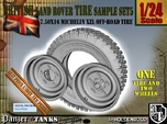 1-24 Land Rover 750x16 Tire And Wheels Sample Set5