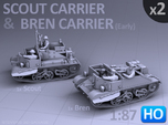 Scout and Bren Carrier  (1:87 HO) - (2 Pack)