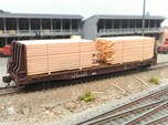 N Lumber Load For 5 Flat Cars: WOT, MTL, Athearn