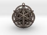 Planetary Merkaba Sphere w/ nested 64 Tetrahedron