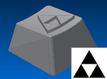 Legend of Zelda - Triforce Keycap (R1, 1x1)