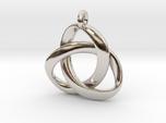 3D Open Triquetra Pendant 4.5cm