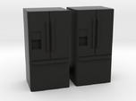 3-Door French Door Refrigerator 1-87 HO Scale